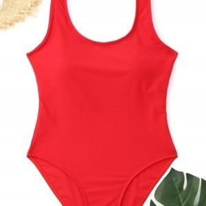 Zaful Red One Piece Swimsuit
